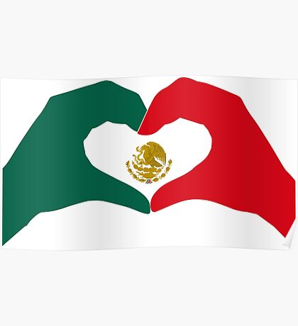 We Heart Mexico Patriot Flag Series  Poster