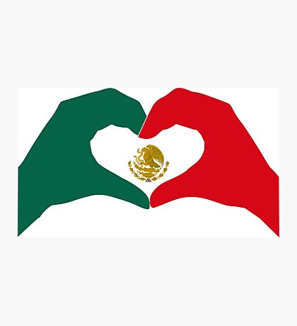 We Heart Mexico Patriot Flag Series  Photographic Print