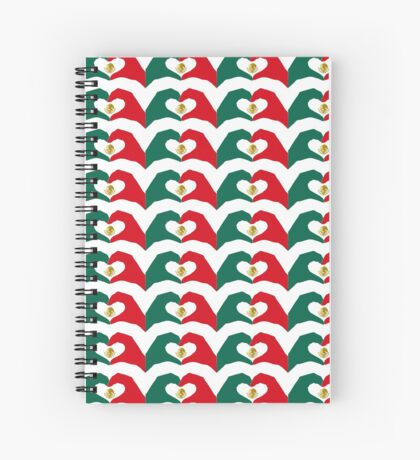 We Heart Mexico Patriot Flag Series  Spiral Notebook