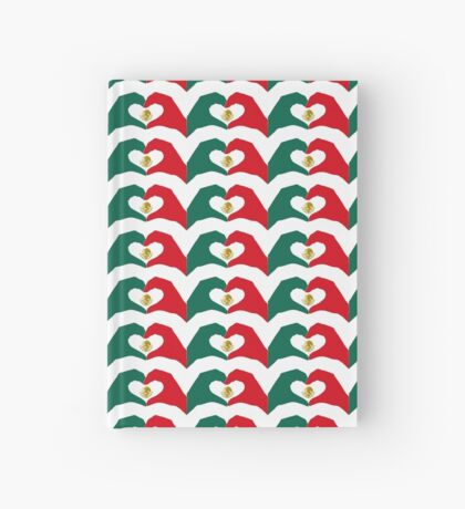 We Heart Mexico Patriot Flag Series  Hardcover Journal