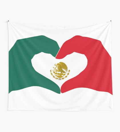 We Heart Mexico Patriot Flag Series  Wall Tapestry