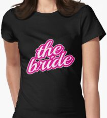 Bride Gift Bachelorette Party Shirts Wedding Bridal Engagement Women's Fitted T-Shirt