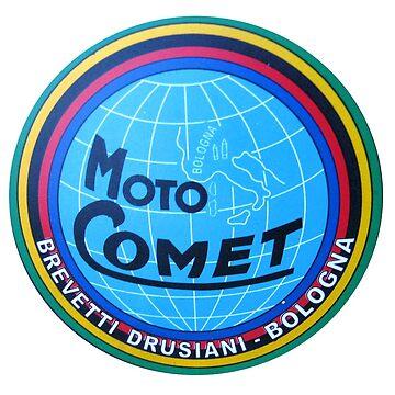 MOTO COMET SHIRT VINTAGE SUPER RARE RACING BIKE by cseely
