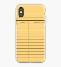 Vintage Library Card - Yellow Gold iPhone Case