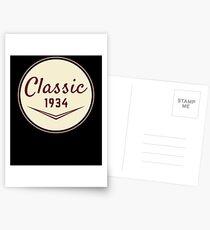 1934 Birthday Gift Vintage Classic 84th Birthday Present Postcards
