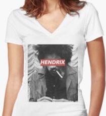 HENDRIX Women's Fitted V-Neck T-Shirt