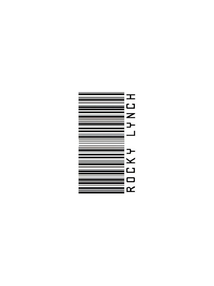 Felsiger Lynch-Barcode-Telefon-Kasten oder Aufkleber - horizontal von livvalla