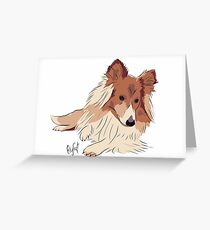 Collie Cuteness Greeting Card