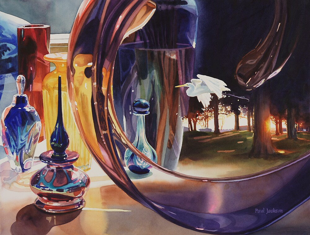 """""""Through The Looking Glass"""" Watercolor Art by Paul Jackson"""