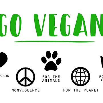 Go Vegan - compassion, no cruelty,  by DinksiStyle