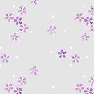 Cherry Blossoms in Violet by Rachelle Skinner