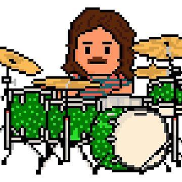 Rock Battle Greatest Pixel Classic Rock Drummer by gkillerb