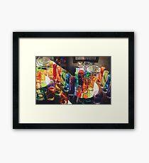 """Fascination"" Art Glass Watercolor Framed Print"