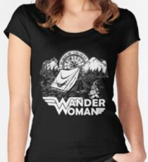 Wander Woman Gift for Queen Of The Camper T-shirt Women's Fitted Scoop T-Shirt