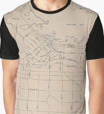 Vancouver Planning Department Map, 1984 Graphic T-Shirt