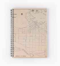 Vancouver Planning Department Map, 1984 Spiral Notebook
