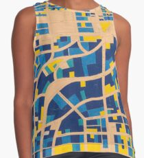 Map of Shaugnessy in blue and gold Contrast Tank