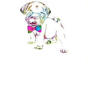 Cute Pug Puppy Love Gift  Dog Lover Owner Design Color  by loveteens