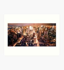 """Manhattan Tapestry"" New York Watercolor Art Print"