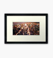 """Manhattan Tapestry"" New York Watercolor Framed Print"