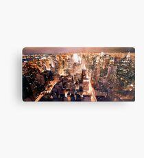 """""""Manhattan Tapestry"""" New York Watercolor Metal Print"""
