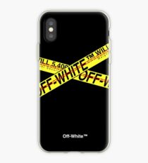 Off White Police Line iPhone Case