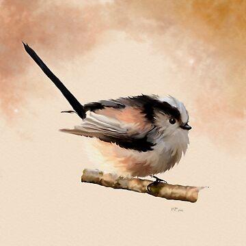 Bird Art: Long Tailed Tit by bamalam-art