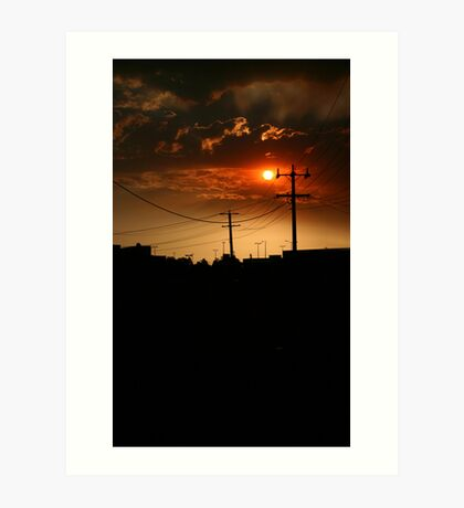 Sunsets on the Northside Art Print