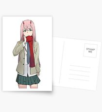 Darling in the Franxx Zero Two Normal Clothes Postcards