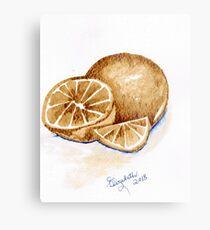 Oranges in autumn Metal Print