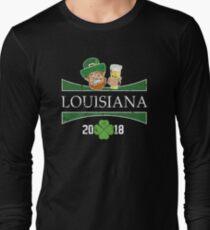 St Pats Day Shirt Louisiana St Patricks Girls Shamrock Long Sleeve T-Shirt