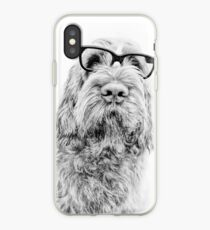 Brown Roan Italian Spinone Dog Head Shot with Glasses iPhone Case