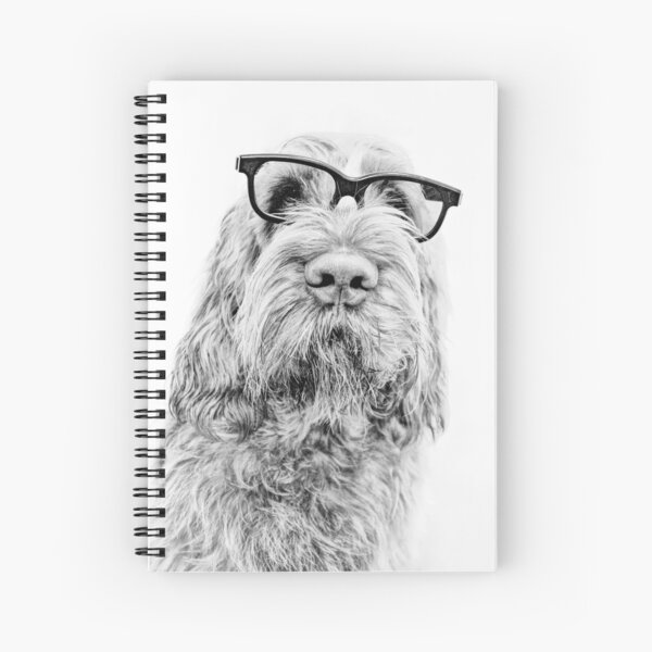 Brown Roan Italian Spinone Dog Wearing Glasses Spiral Notebook
