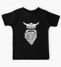 Bearded Viking Hipster Swag Art Design Beard T-Shirts Kids Tee