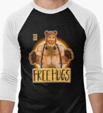 ADAM LIKES HUGS - BEAR PRIDE - GINGER EDITION Men's Baseball ¾ T-Shirt