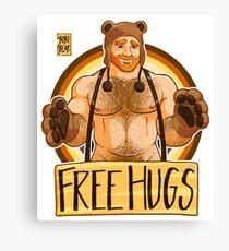 ADAM LIKES HUGS - BEAR PRIDE - GINGER EDITION Canvas Print