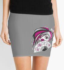 Burlesque Girl with fan Mini Skirt