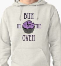 Bun In The Oven - Lilac - Pregnancy Tee Pullover Hoodie