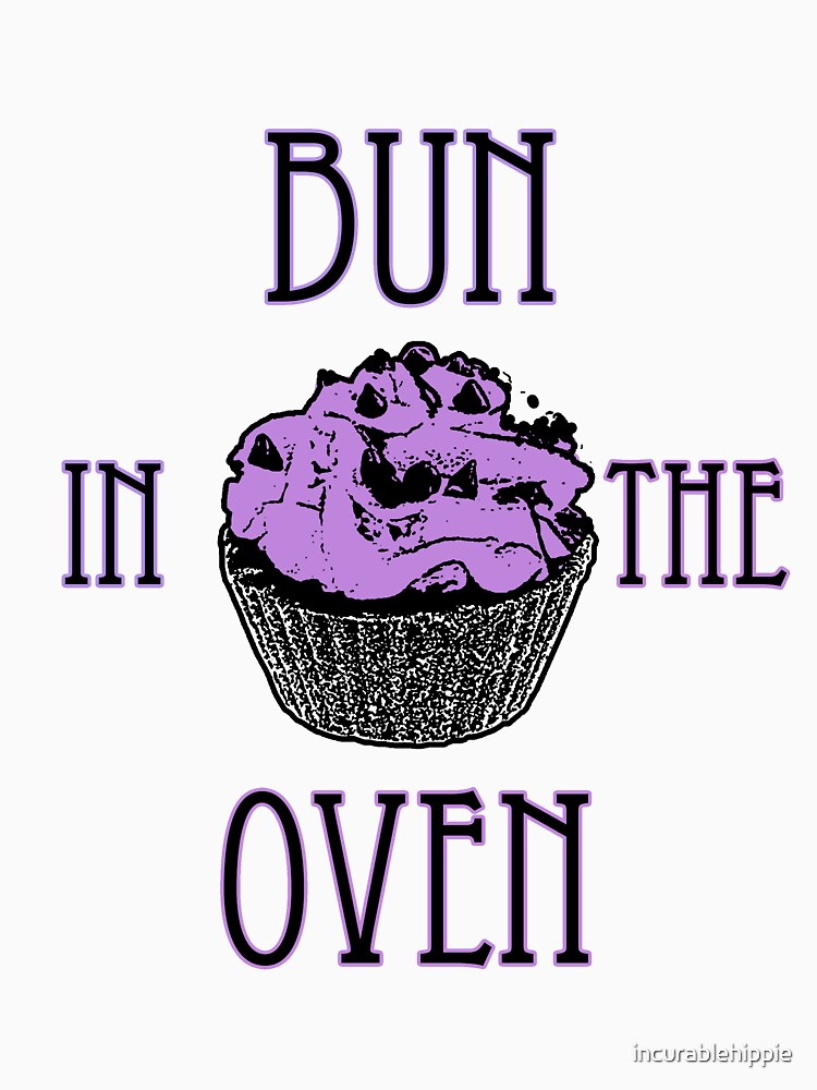 Bun In The Oven - Lilac - Pregnancy Tee by incurablehippie