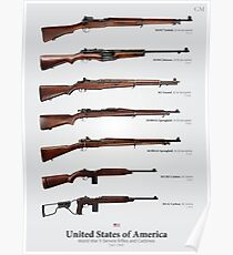 World War II Service Rifles of the United States Poster