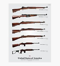 World War II Service Rifles of the United States Photographic Print