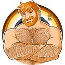 ADAM LIKES CROSSING ARMS - BEAR PRIDE - GINGER EDITION by bobobear