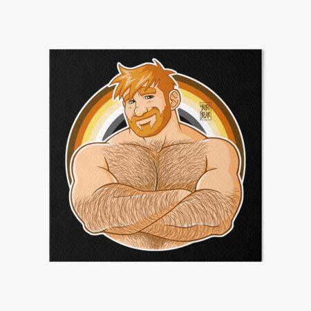 ADAM LIKES CROSSING ARMS - BEAR PRIDE - GINGER EDITION Art Board Print
