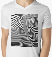 Abstract Lines Men's V-Neck T-Shirt