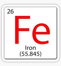 Chemical element tile. Fe. Iron. Sticker