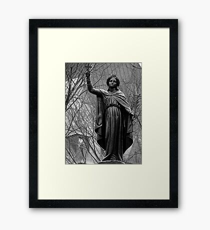 In The Streets Of Quebec Framed Print
