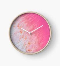 Kalbarri Pink Salt Lake- Western Australia   Clock