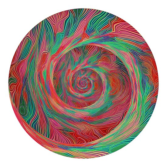 Abstract spiral sphere