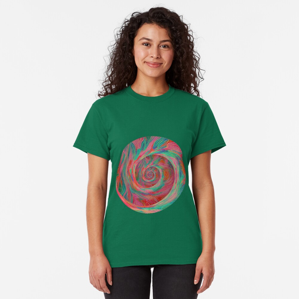 Abstract spiral sphere Classic T-Shirt