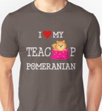 788709729 Teacup Pomeranian Design Unisex T-Shirt
